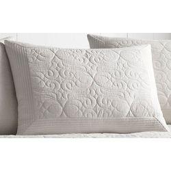 Tommy Bahama Nassau White Standard Pillow Sham