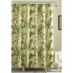 Palmiers Medium Green Shower Curtain