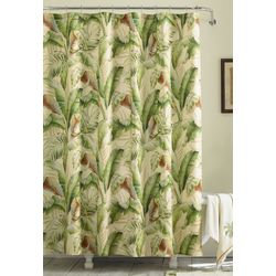 Tommy Bahama Palmiers Medium Green Shower Curtain