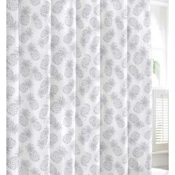 Tommy Bahama Tossed Pineapple Pastel Blue Shower Curtain