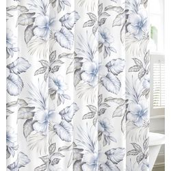 Tommy Bahama Casablanca Garden Pastel Grey Shower Curtain
