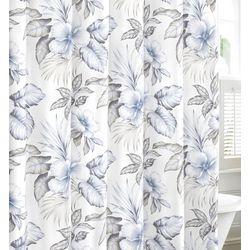 Casablanca Garden Pastel Grey Shower Curtain