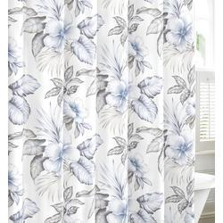 Casablanca Garden Pastel Grey Shower Curtain
