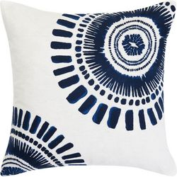 Trina Turk Samba De Roda Circle Embroidery Throw Pillow