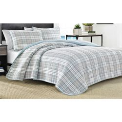 Nautica Millbrook Plaid Quilt Set