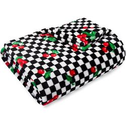Betsey Johnson Cherry Checker Ultra Soft Plush Throw