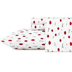Betsey Johnson Love Lips Sheet Set