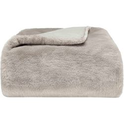 Vera Wang Faux Pelage Throw Blanket