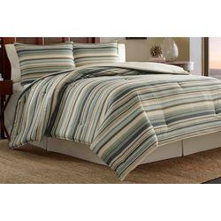 Tommy Bahama Canvas Stripe Comforter Set