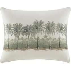 Tommy Bahama Canvas Stripe Breezer Palm Pillow