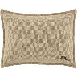 Tommy Bahama Canvas Stripe Herringbone Pillow