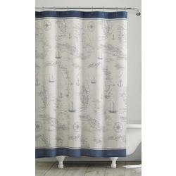 Caribbean Sea Blue Shower Curtain