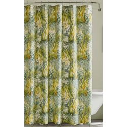 Tommy Bahama Cuba Cabana Green Shower Curtain