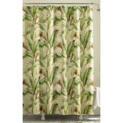 Tommy Bahama Palmiers Green Shower Curtain