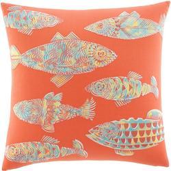 Batic Fish 20'' Square Pillow