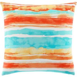 Tommy Bahama Watercolor Stripe 20'' Square Pillow