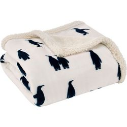 Eddie Bauer Emperor Penguin Throw Blanket