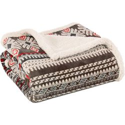 Eddie Bauer Sycamore Brown Throw Blanket
