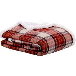 Eddie Bauer Flannel Sherpa Throw Blanket