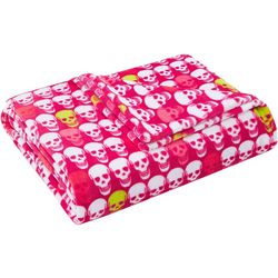Betsey Johnson Skull Party Throw Blanket