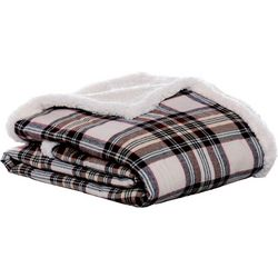 Eddie Bauer Flannel Sherpa Throw Blanket