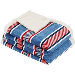 Nautica Center Coast Stripe Throw Blanket