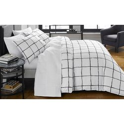 City Scene Zander White Comforter Set