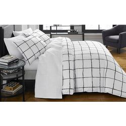 City Scene Zander White Duvet Cover Set