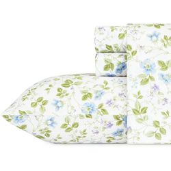 Laura Ashley Spring Bloom Flannel Sheet Set