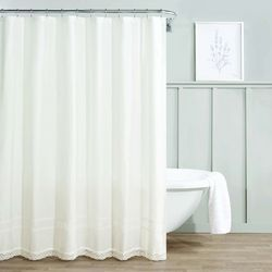Laura Ashley Annabella Crochet Lace Shower Curtain