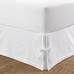 Corner Ties Tailored Bed Skirt