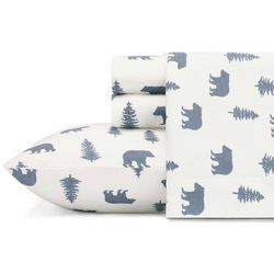 Eddie Bauer Bears & Trees Flannel Sheet Set