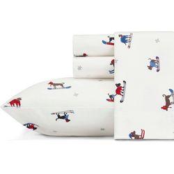 Eddie Bauer Ski Patrol Flannel Sheet Set