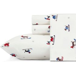 Eddie Bauer Ski Patrol Flannel Sheet Set