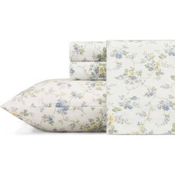 Laura Ashley Le Fleur Flannel Sheet Set