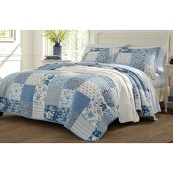 Laura Ashley Paisley Patchwork Quilt Set