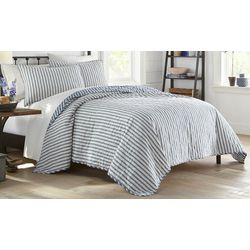 Stone Cottage Willow Way Ticking Stripe Quilt Set