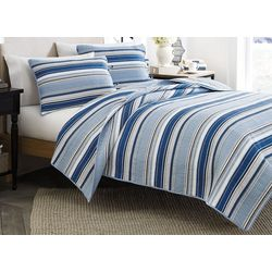 Stone Cottage Fresno Blue 3-pc. King Quilt Set