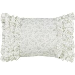 Laura Ashley Harper Floral Ruffle Breakfast Pillow