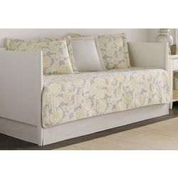 Laura Ashley Joy Grey Lemon 5-pc. Daybed Quilt Set