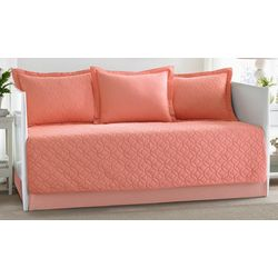 Laura Ashley Solid Coral 5-pc. Daybed Quilt Set