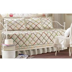 Laura Ashley Ruffle Garden 5-pc. Daybed Quilt Set