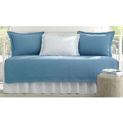 Stone Cottage Trellis Blue 5-pc. Daybed Quilt Set