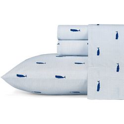 Nautica Striped Whale Sheet Set