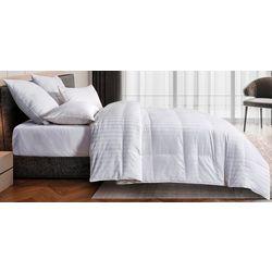Blue Ridge Damask Cotton Goose Down & Feather Comforter