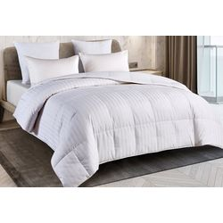 Blue Ridge Supreme Cotton Damask Stripe Down Comforter
