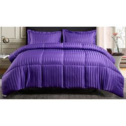 Kathy Ireland Damask Stripe Down Alternative Comforter Set