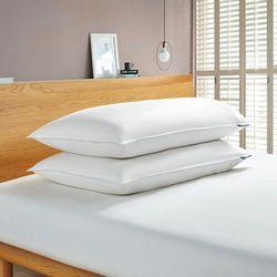 2-pk. Goose Feather & Down Fiber King Size Pillow Set
