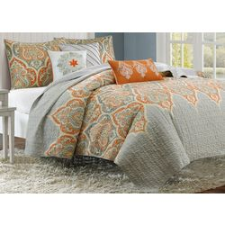 Madison Park Nisha Orange 6-pc. Coverlet Set