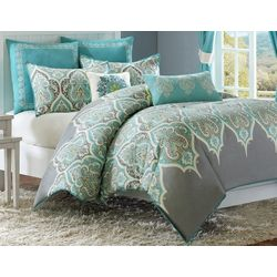 Madison Park Nisha Teal 7-pc. Comforter Set